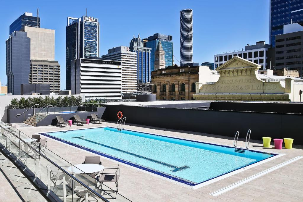 The swimming pool at or near Hilton Brisbane