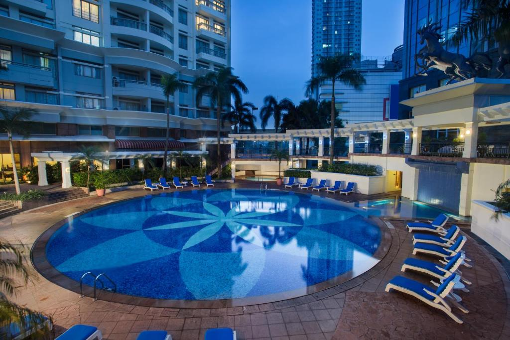 The swimming pool at or close to Somerset Grand Citra Jakarta