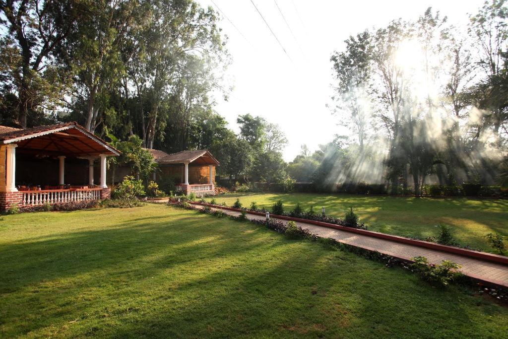 A garden outside Radiant Resort