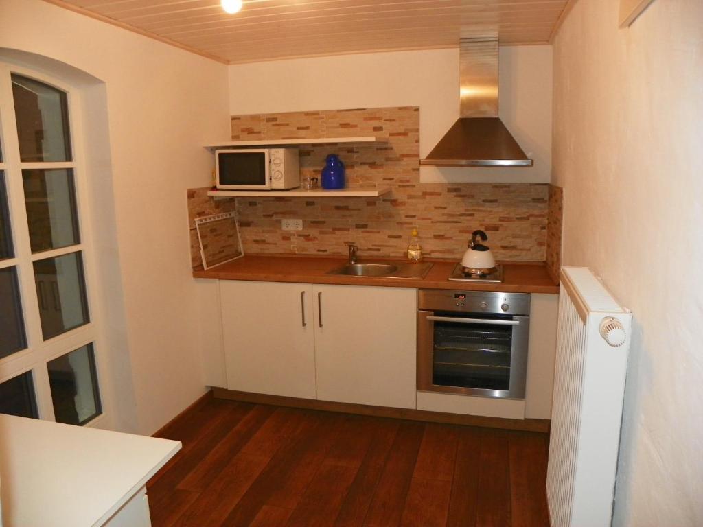 Küche/Küchenzeile in der Unterkunft Ferienwohnung Göttsche-Hof