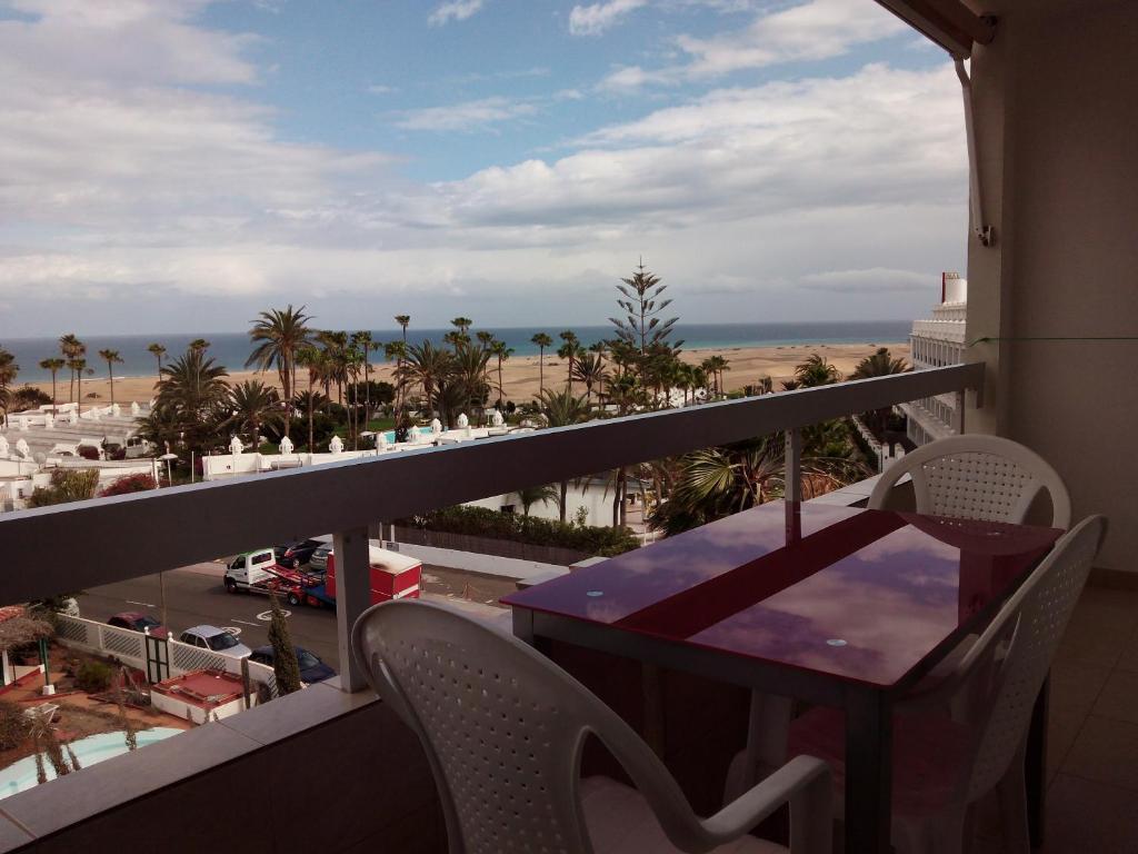 A balcony or terrace at Apartamentos Los Aguacates