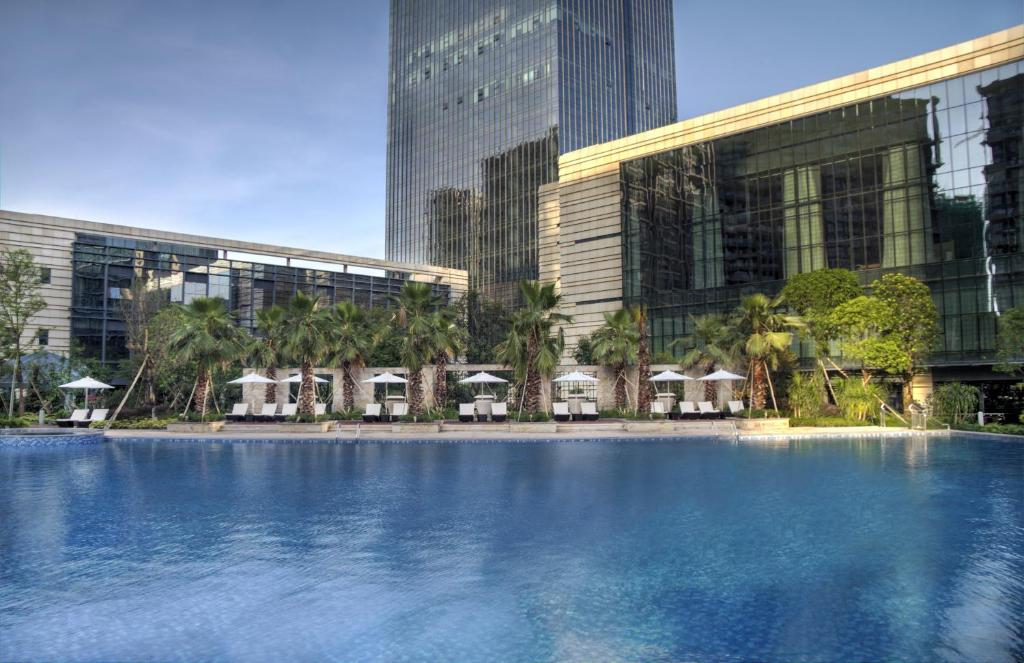 The swimming pool at or near DoubleTree by Hilton Heyuan