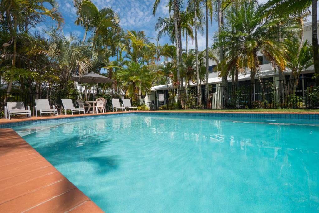 The swimming pool at or near Caribbean Noosa