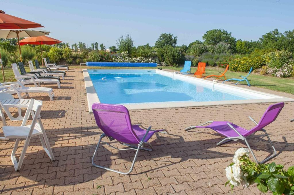 The swimming pool at or near Domaine Du Bossu