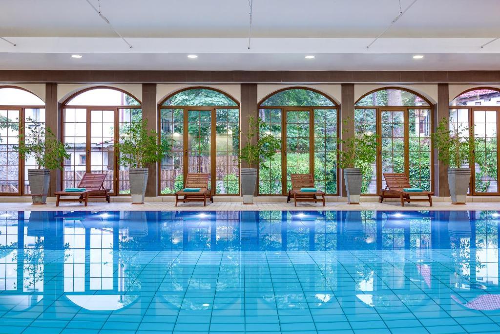 The swimming pool at or near Hotel Konradówka
