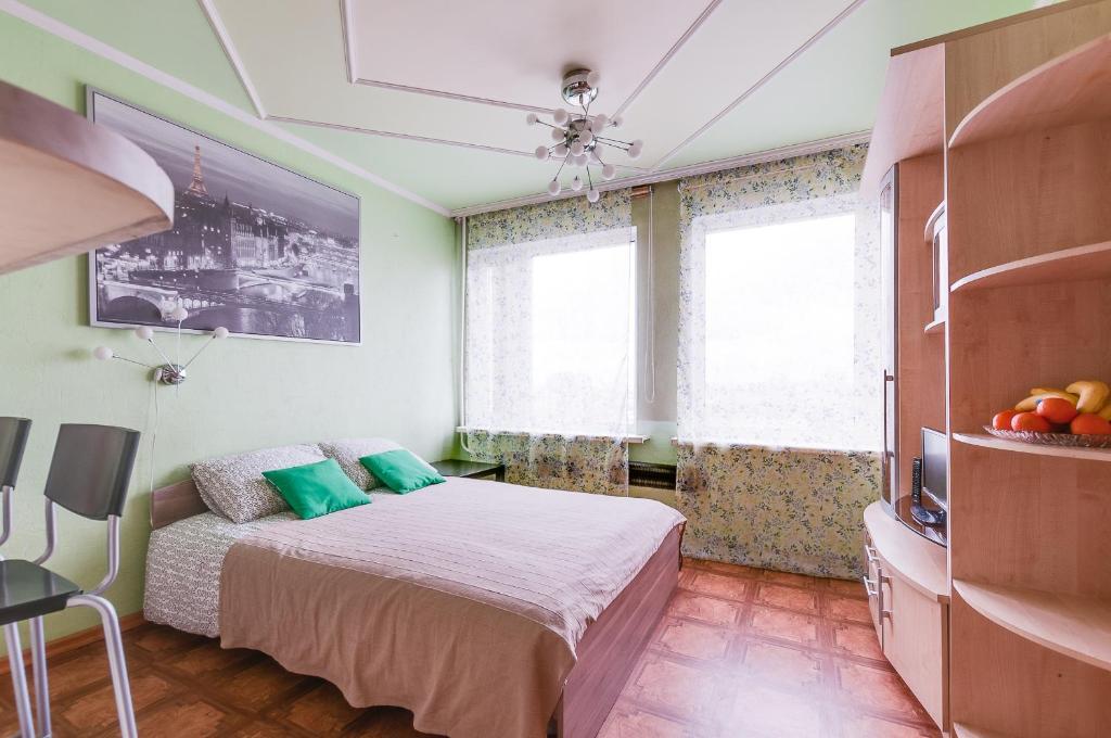 Кровать или кровати в номере ROTAS On Moskovsky 224 Floor 15