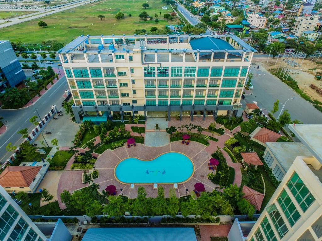A bird's-eye view of Royal Mingalar Hotel