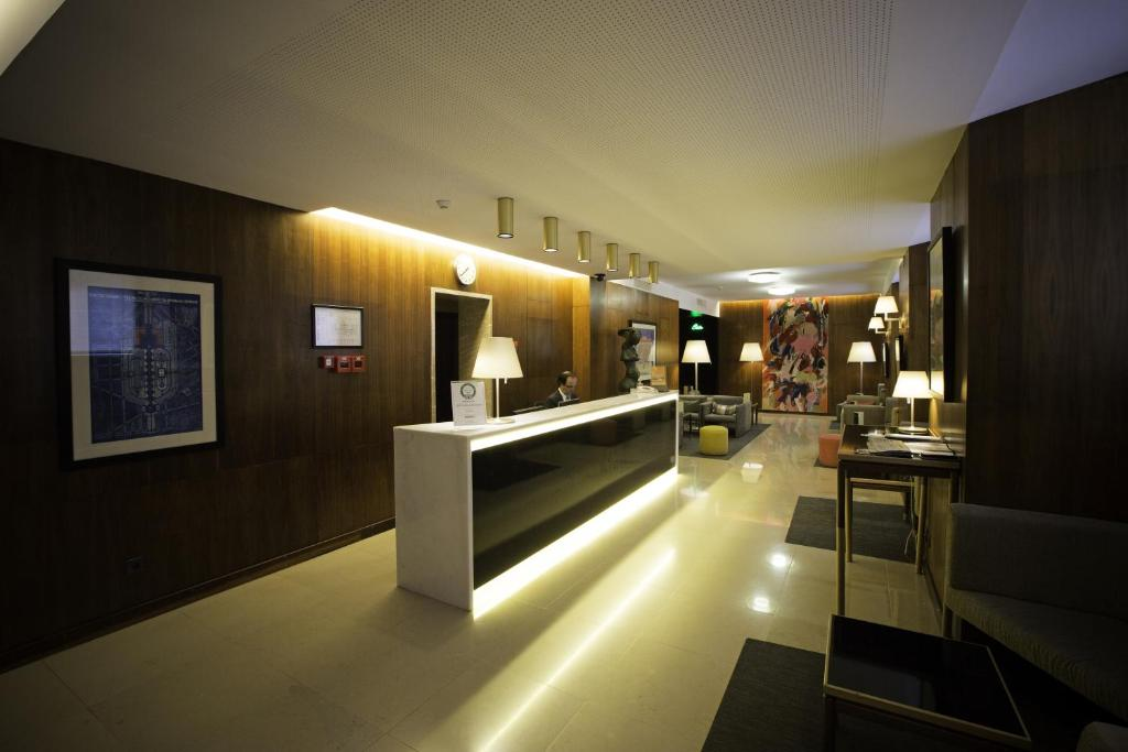 The lobby or reception area at Hotel Miraparque