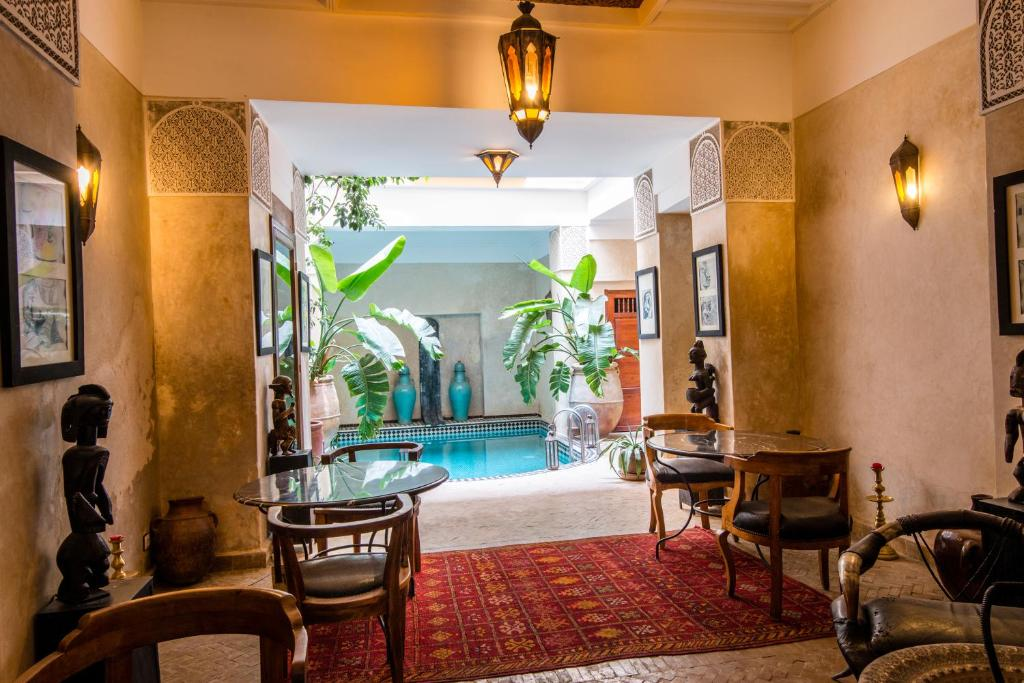 The swimming pool at or near Riad Dar Ourika