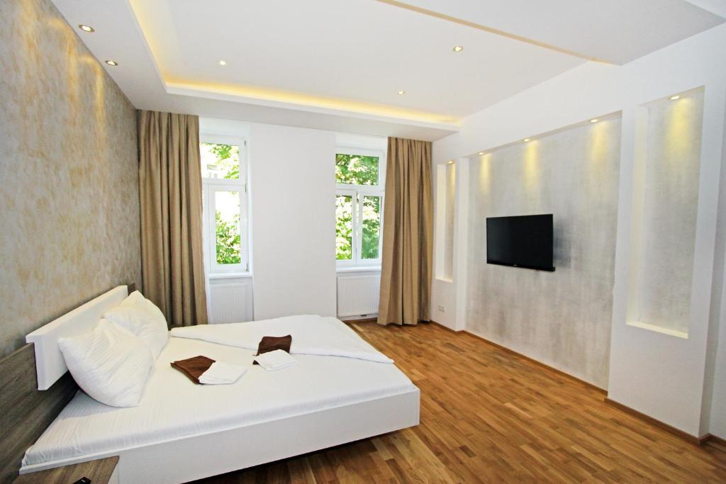 Ein Sitzbereich in der Unterkunft Aurellia Deluxe Apartments