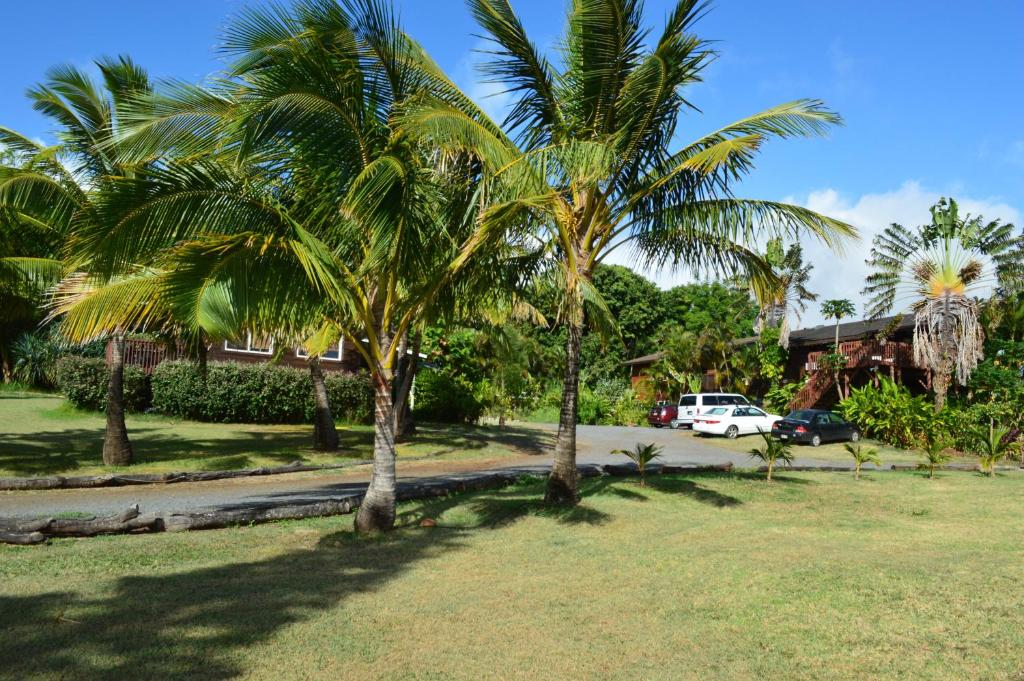 A garden outside God's Peace of Maui