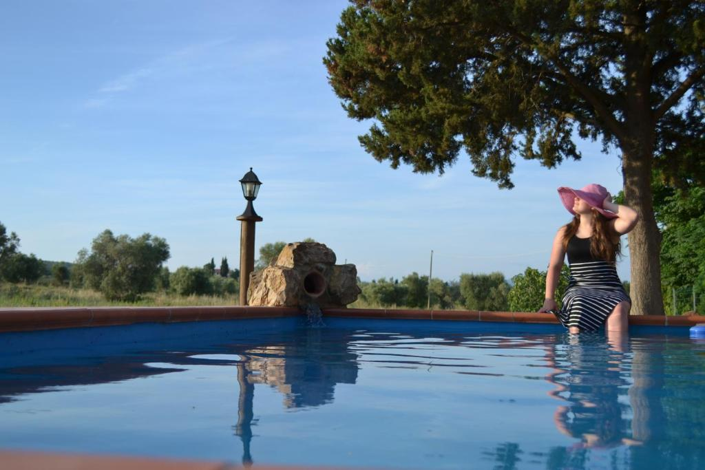 The swimming pool at or near Agriturismo La Dolce Collina