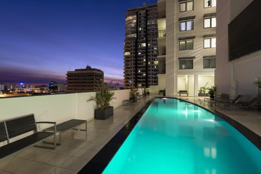 The swimming pool at or near Oaks Darwin Elan Hotel