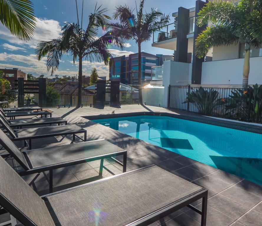 The swimming pool at or near The Chermside Apartments