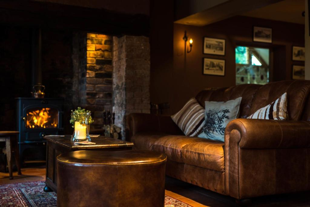 A seating area at The Pheasant at Neenton