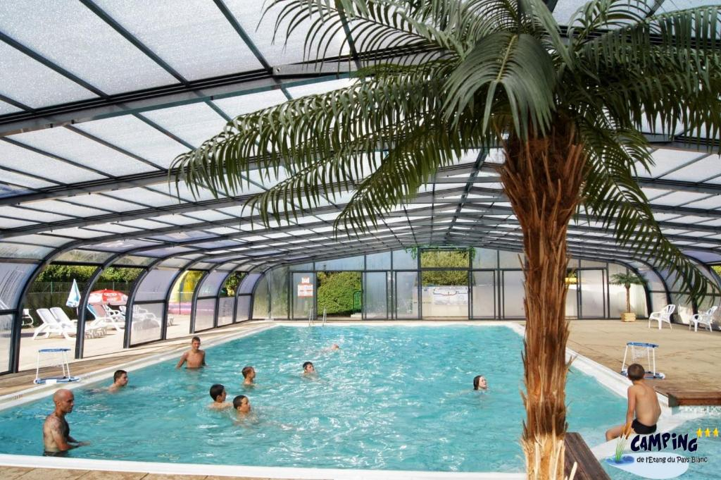 The swimming pool at or near Team Holiday - Camping de l'Etang du Pays Blanc