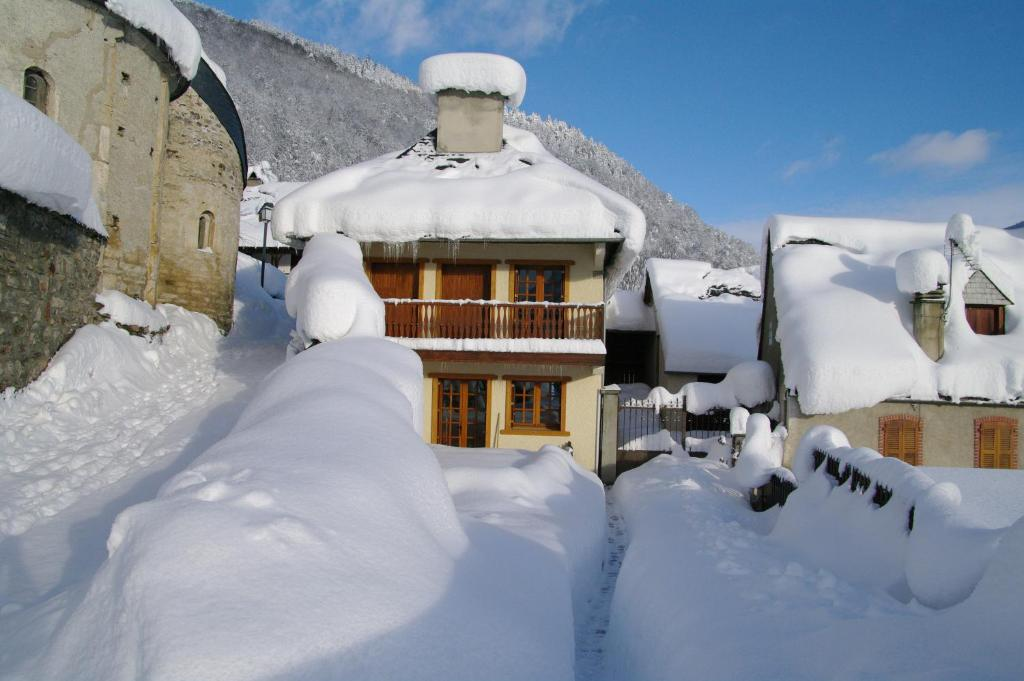 Gite De Montagne Les Sureaux during the winter