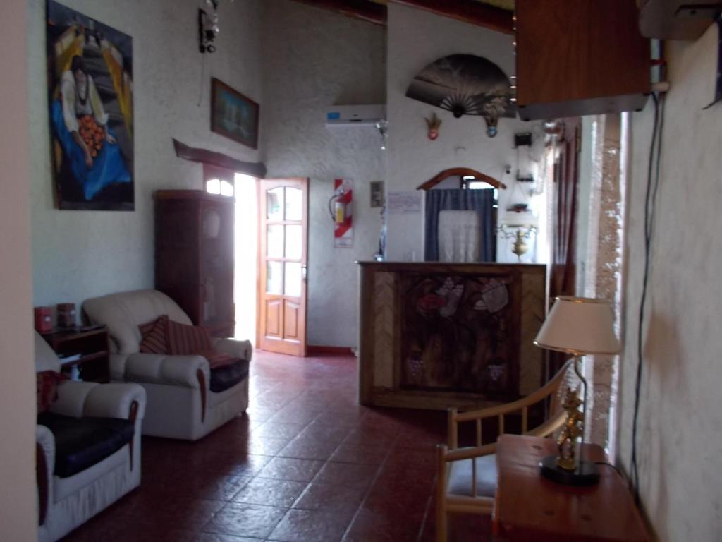 A seating area at Divina Presencia