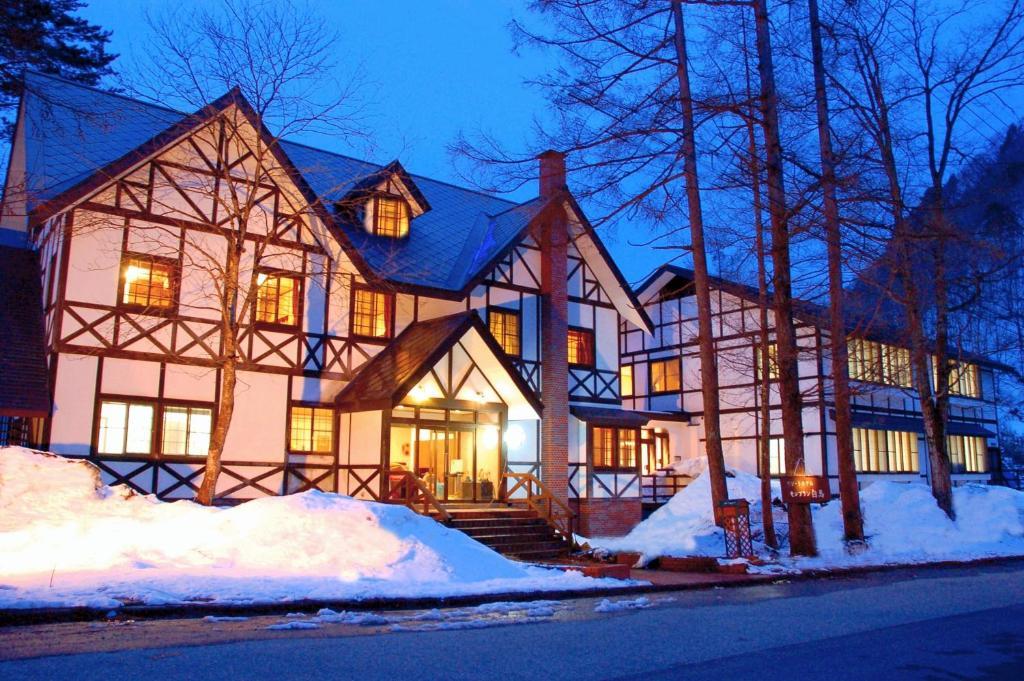 勃朗峰白馬酒店冬天相片
