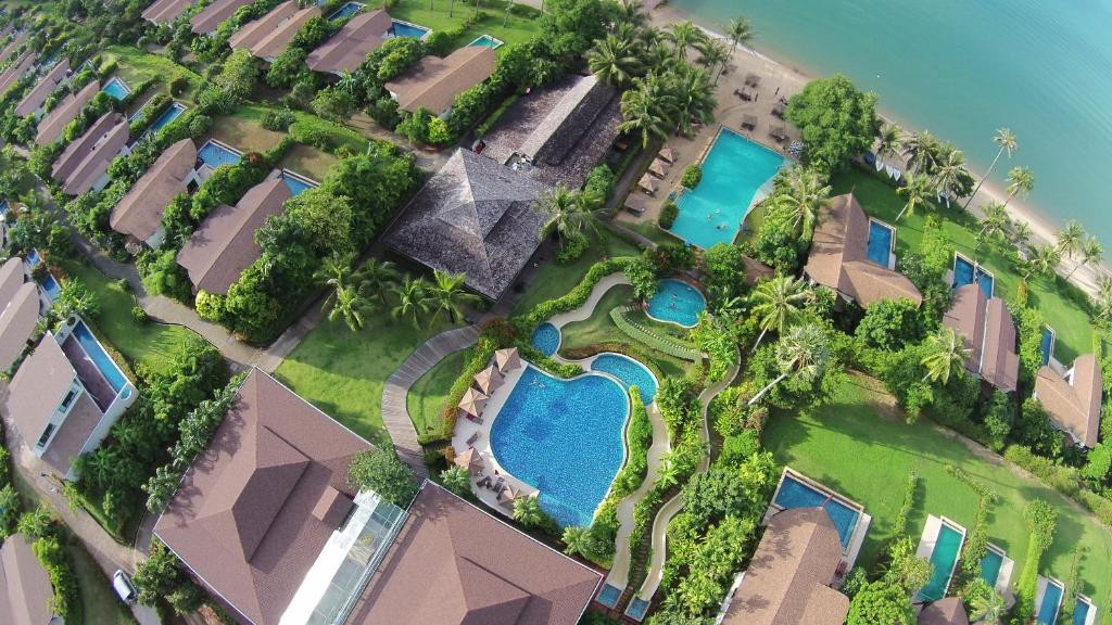 A bird's-eye view of The Village Coconut Island Beach Resort