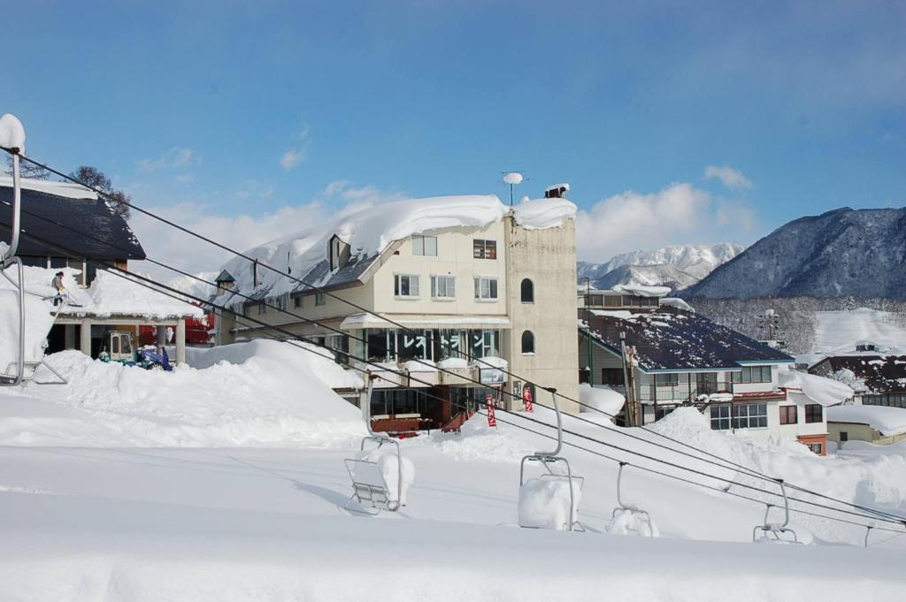 Hotel New Bernina during the winter