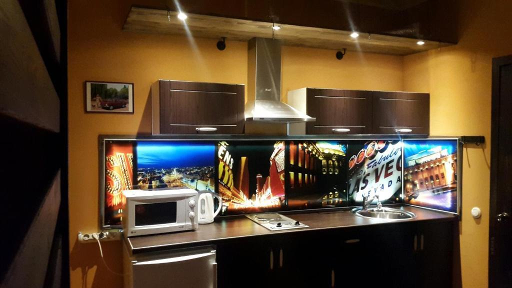 Телевизор и/или развлекательный центр в Apartment on Lenina 18