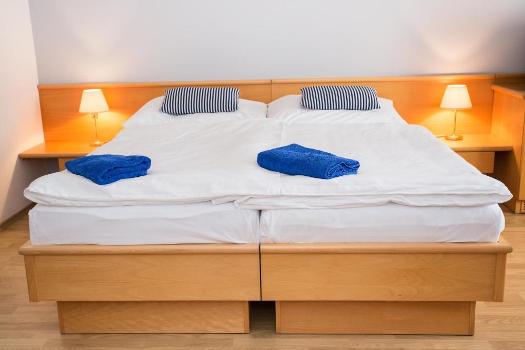 Postel nebo postele na pokoji v ubytování Hotel Laguna