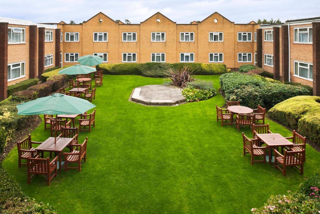 A garden outside Holiday Inn Chester South