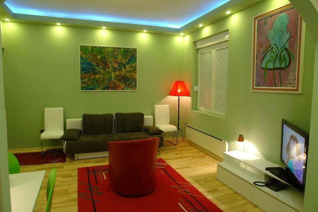 A seating area at Apartment Kanikol