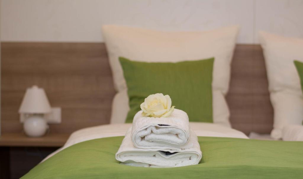 Ein Bett oder Betten in einem Zimmer der Unterkunft B&B Kukione