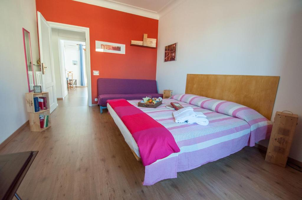 A bed or beds in a room at B&B Flaminio Moduloray