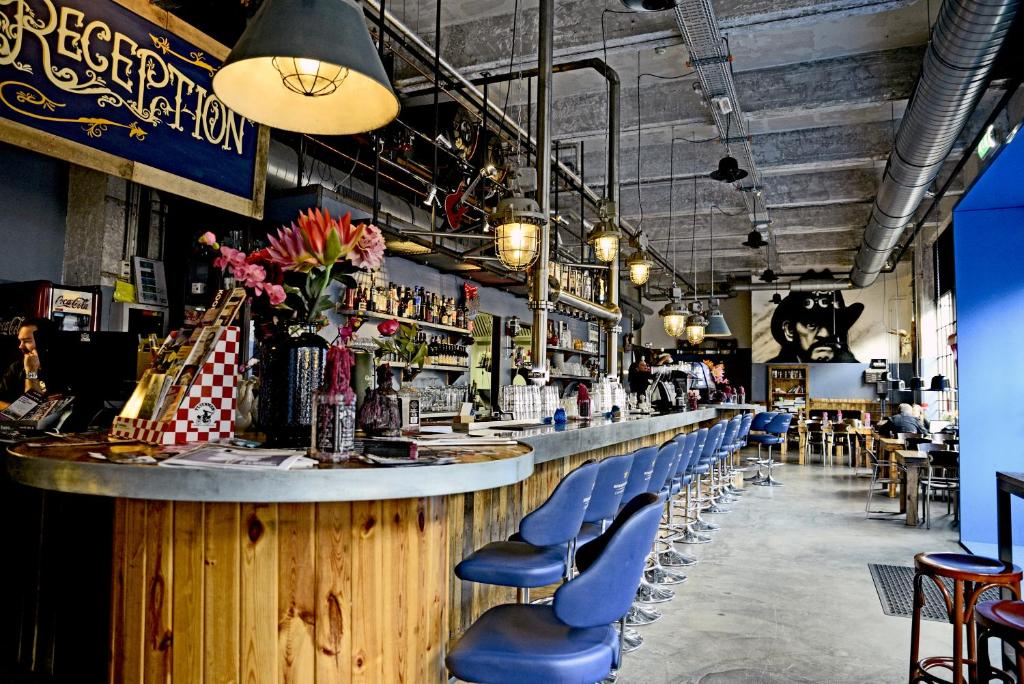 A restaurant or other place to eat at Blue Collar Hotel