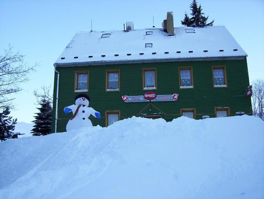 Pension Medvidek v zimě
