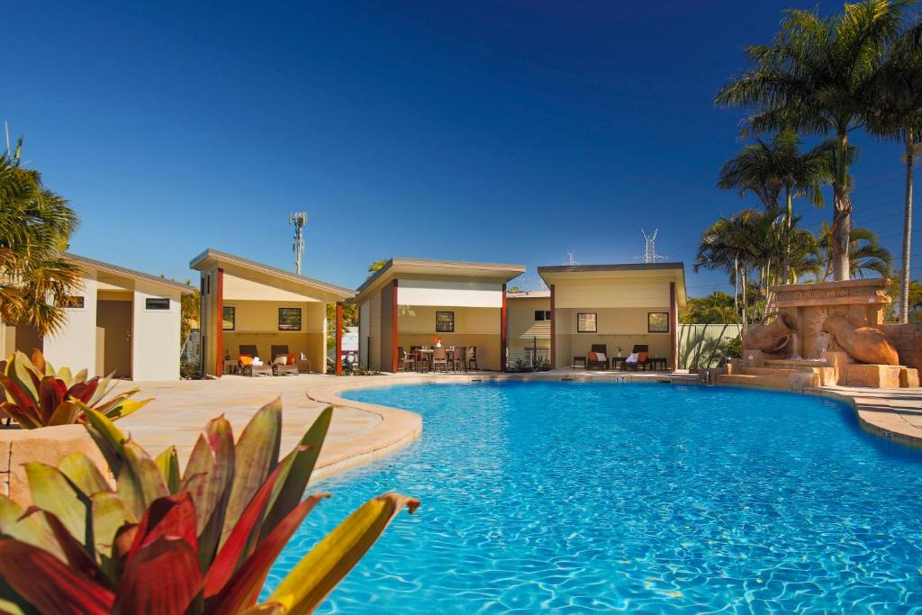 The swimming pool at or near Brisbane Holiday Village