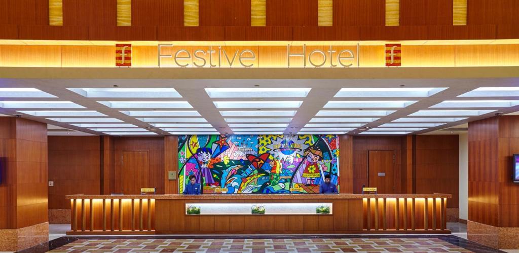El vestíbulo o zona de recepción de Resorts World Sentosa - Festive Hotel (SG Clean)
