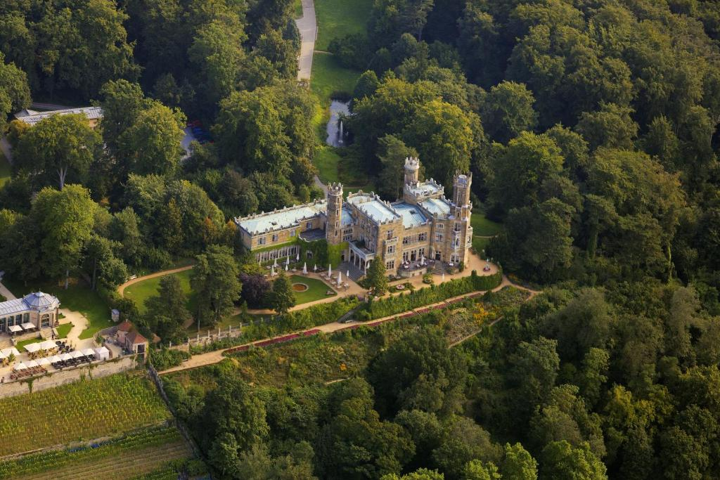 A bird's-eye view of Hotel Schloss Eckberg