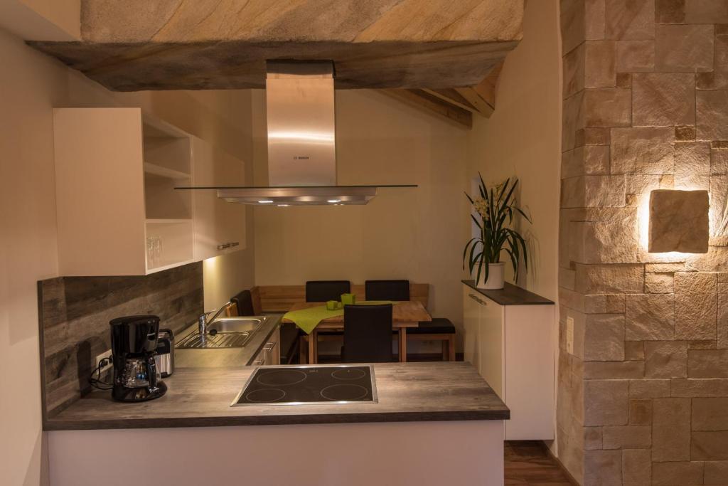 """Küche/Küchenzeile in der Unterkunft """"Wohnen im Garten der Sinne"""""""