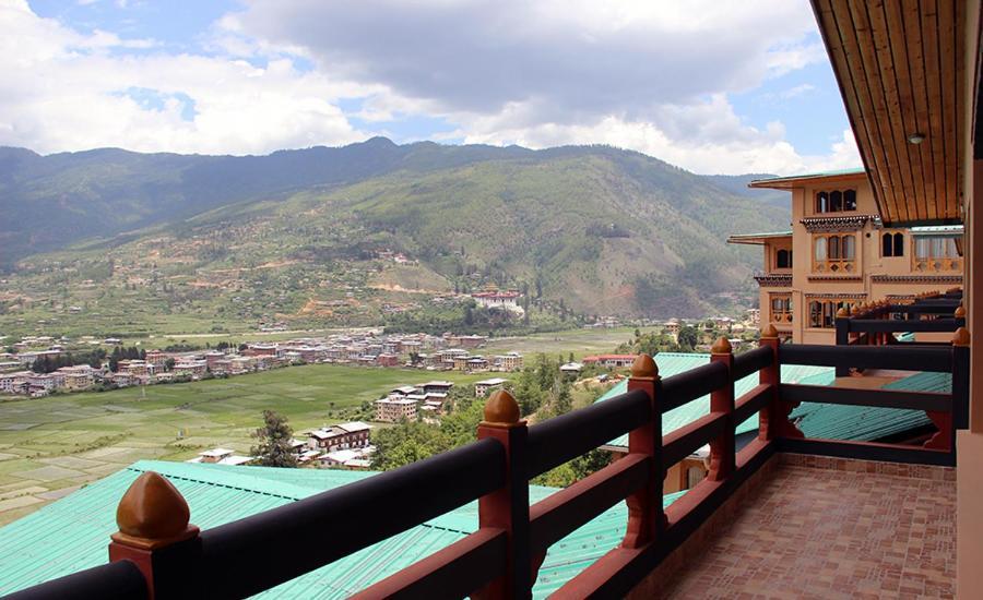 A balcony or terrace at Bhutan Mandala Resort
