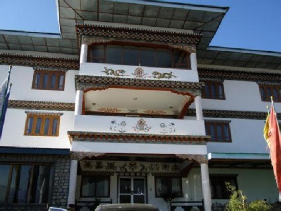 The facade or entrance of Namsay Choling Resort
