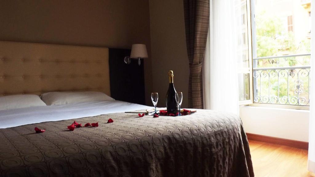 Cama o camas de una habitación en Hotel Nautilus
