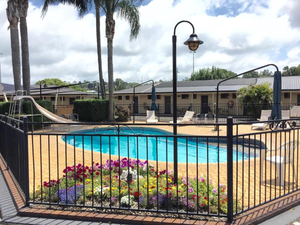 A view of the pool at James Street Motor Inn or nearby