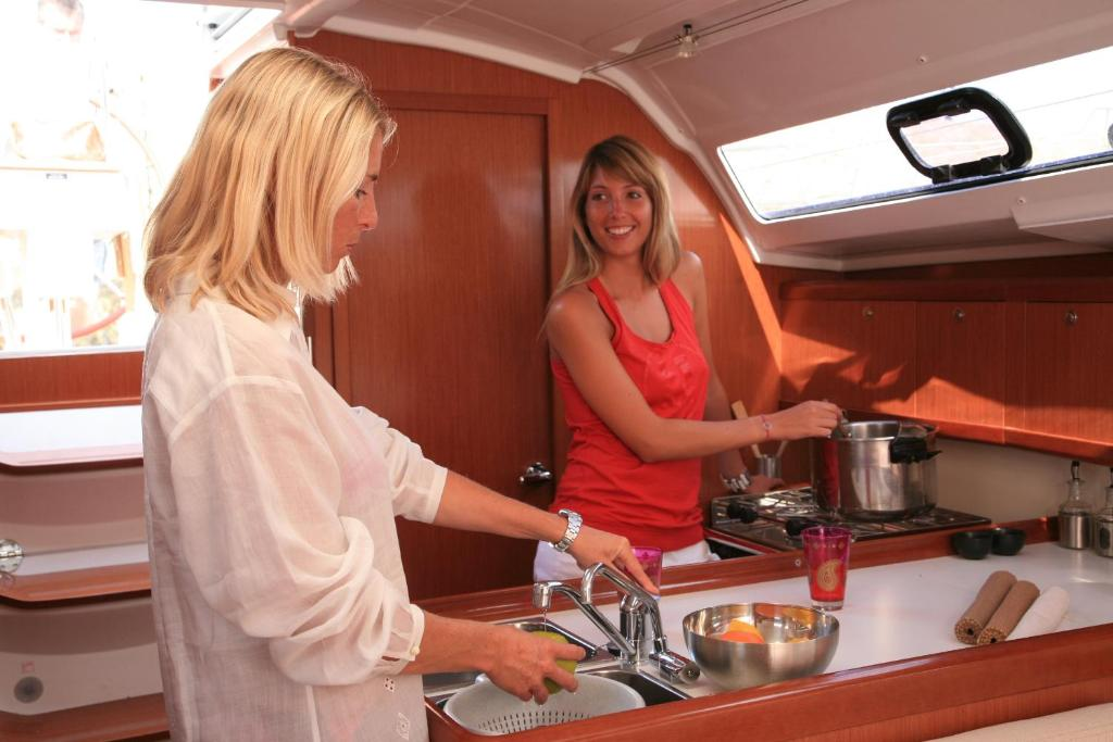A kitchen or kitchenette at Oceanis 37 Sailing Yacht