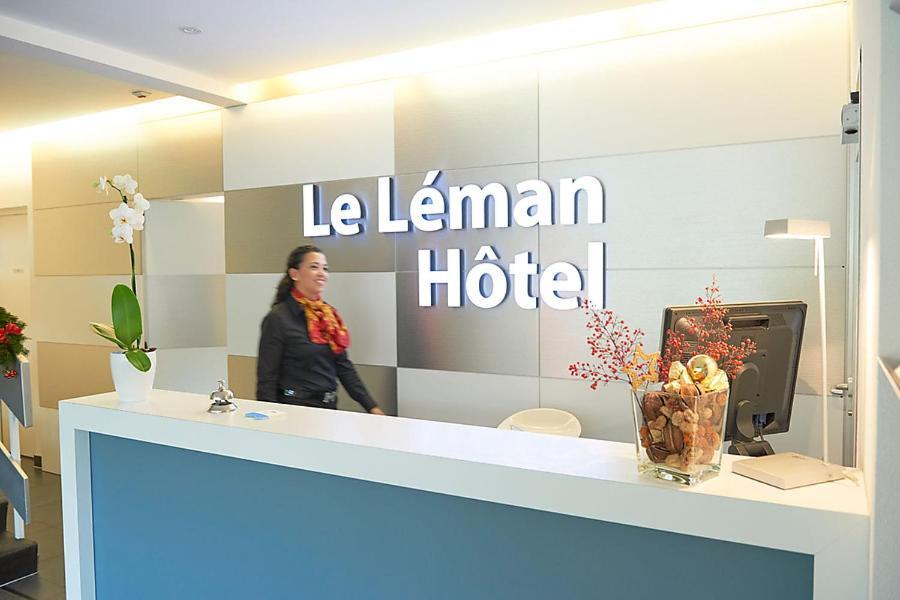 Lobby/Rezeption in der Unterkunft Le Leman Hotel