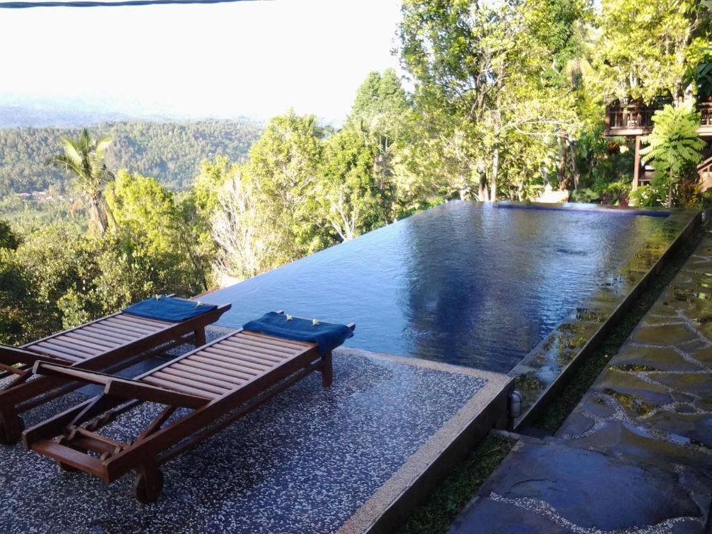 The swimming pool at or near Bali Rahayu Homestay