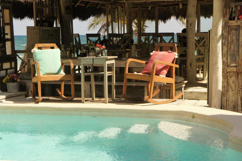 The swimming pool at or near Punta Piedra Beach Posada