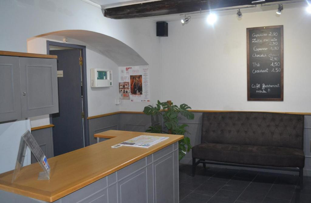 The lobby or reception area at Hotel Concorde
