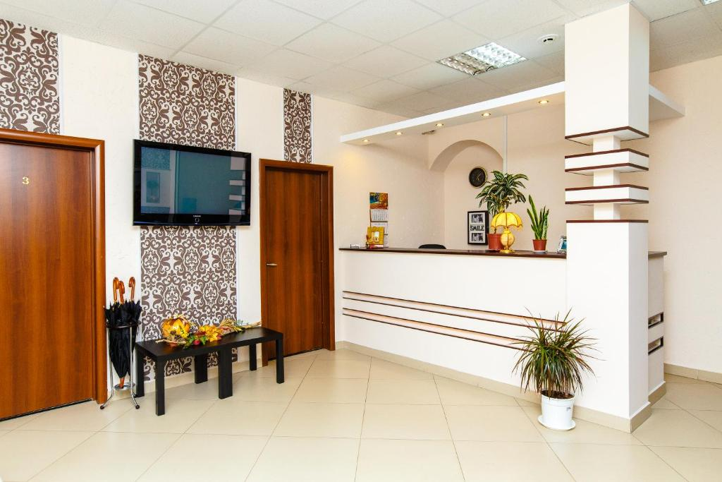 The lobby or reception area at Гостиница Бастон на Никитина
