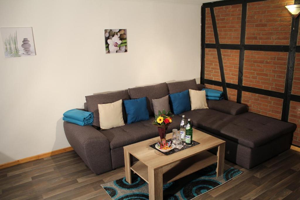 Ein Sitzbereich in der Unterkunft Apartment Haus Sternenhimmel