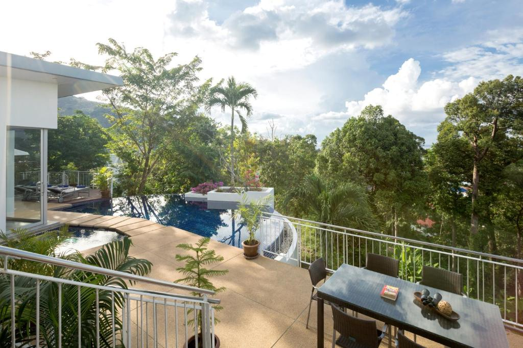 A balcony or terrace at The Coolwater Resort & Villas