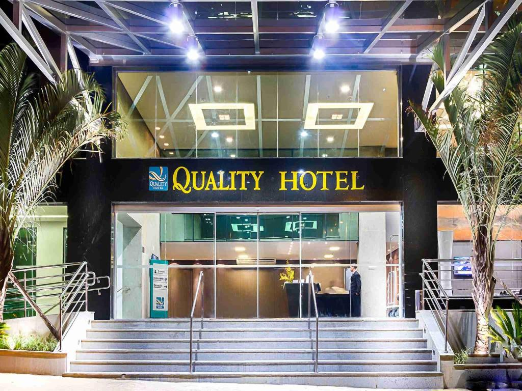 A fachada ou entrada em Quality Hotel Pampulha & Convention Center